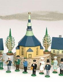 Posaunenchor mit Seiffener Kirche