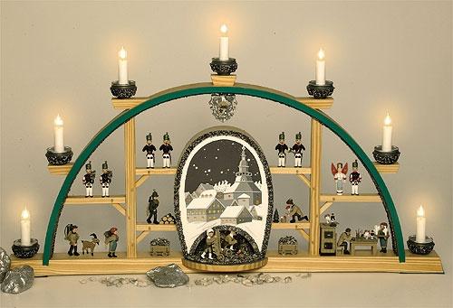 Schwibbogen Seiffener Kirche elektr.