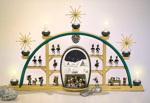 Schwibbogen Gottesdienst in der Bergkapelle / elektr.