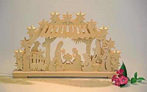 Schwibbogen Christi Geburt elektr.