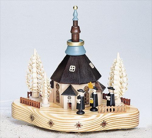 Seiffener Kirche mit Kurrende elektr.
