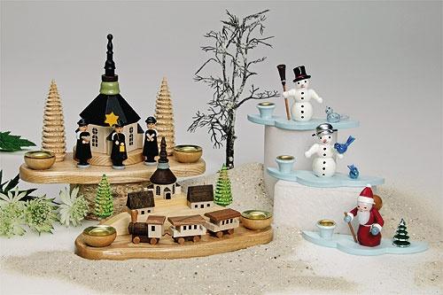 Nikolaus und Schneemänner