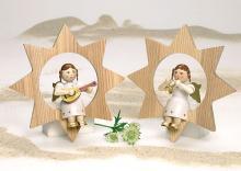 Engel im Stern mit Mandoline