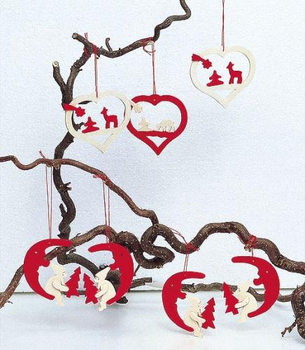 4 Herzen mit Reh