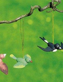 Behang 4 Vögel