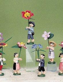 6 Gartenblumenkinder