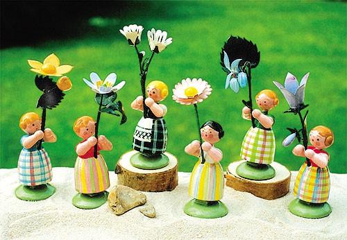 6 Wiesenblumenmädchen
