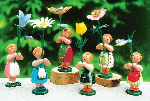 6 Sommerblumenmädchen