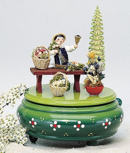 Spieldose Blumenmarkt