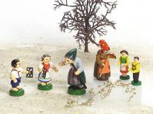 Hexe mit Hänsel und Gretel