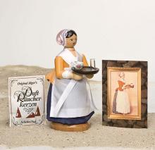 Räuchermann Schokoladenmädchen mit Bild