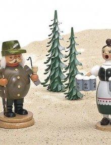 Räuchermann  Helga mit Bierkrügen