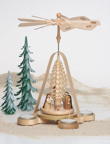 Pyramide Christi Geburt, Teelichter