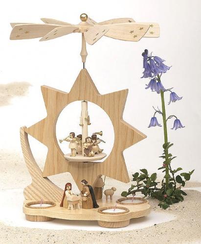 Sternpyramide Christi Geburt für Teelichter