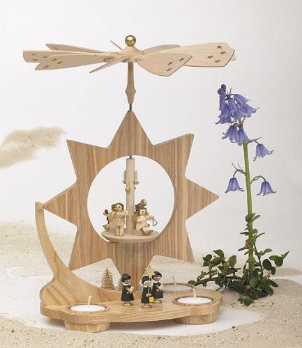 Sternpyramide Kurrende für Teelichter