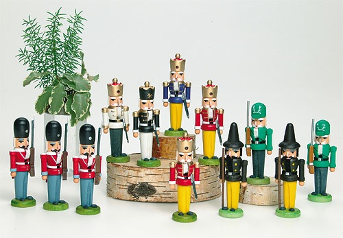 Miniatur - Nussknacker König 10 Stück