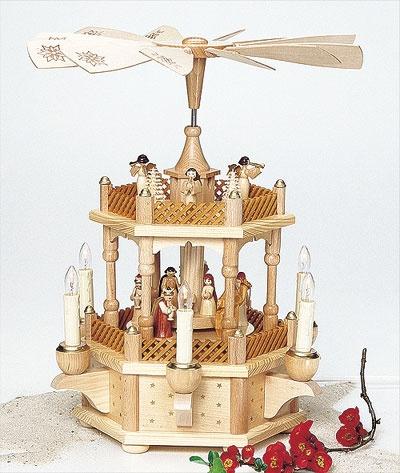 Pyramide Weihnachtsgeschichte elektr. betr.