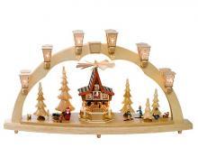 Schwibbogen Weihnachtswald mit Adventhaus