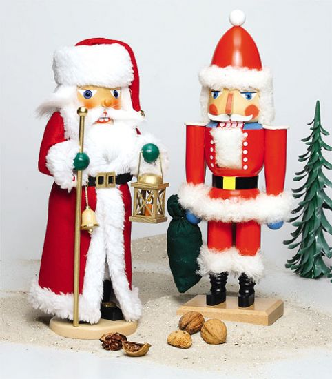 Weihnachtsmann mit Laterne