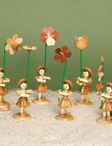 Blumenkind mit Stiefmütterchen