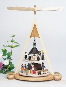 Pyramide Seiffener Weihnacht / 2 Etagen