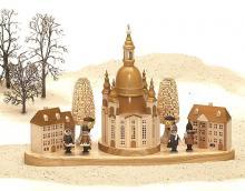 Dredner Frauenkirche mit Häuser