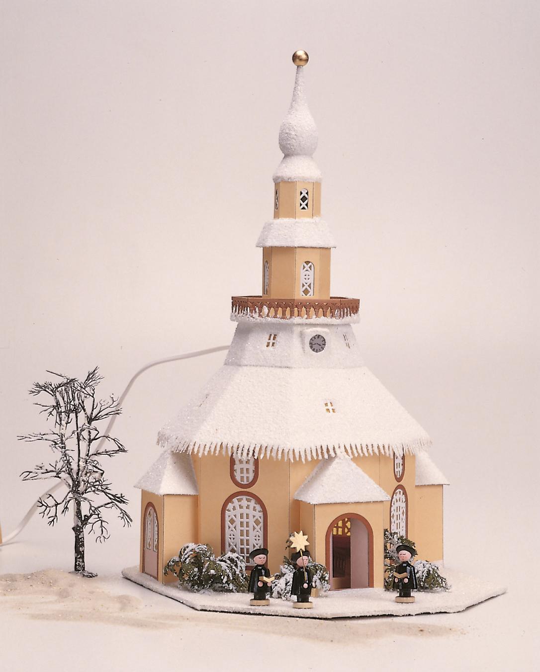 Seiffener Kirche elektr. beleuchtet