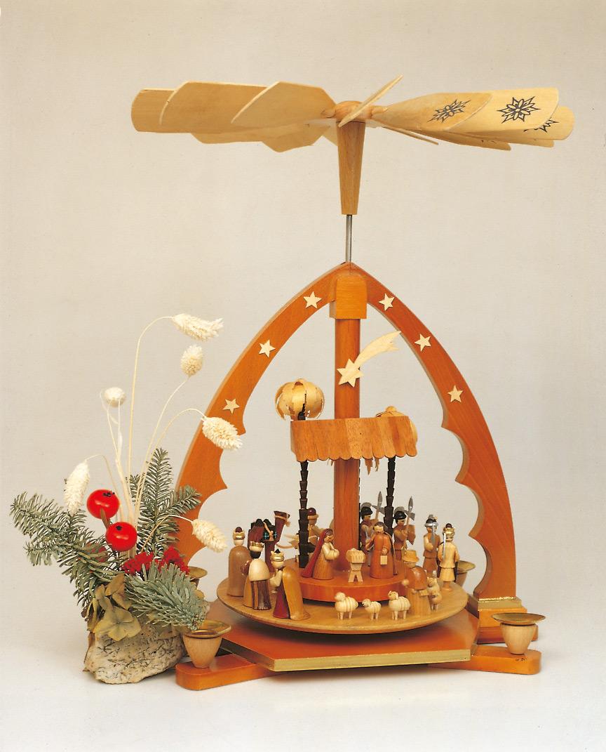 Pyramide Weihnachtsgeschichte natur - Sonderangebot!