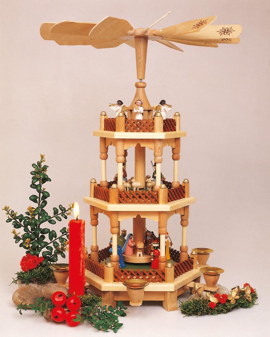 Pyramide Weihnachtsgeschichte 3 Etagen
