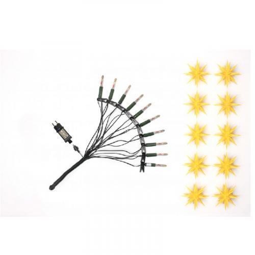 Herrnhuter Sternenkette gelb LED