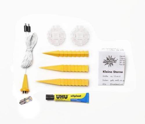 Herrnhuter Stern Kunststoff 13cm gelb, LED