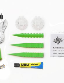 Herrnhuter Stern Kunststoff 13cm grün (inkl. LED)