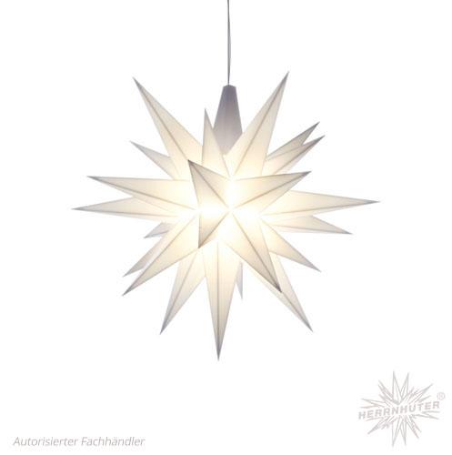 Herrnhuter Stern, Kunststoff 13cm, weiß