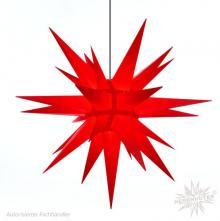 Herrnhuter Stern, Kunststoff 130cm, rot