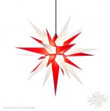 Herrnhuter Stern, Kunststoff 68cm, weiß/rot