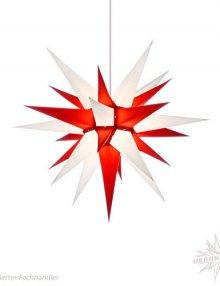 Herrnhuter Stern, Papier 60cm, weiß/rot