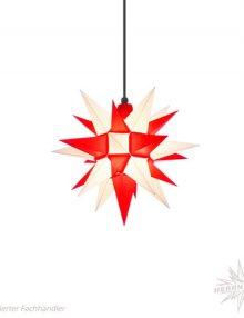 Herrnhuter Stern, Kunststoff 40cm, weiß/rot