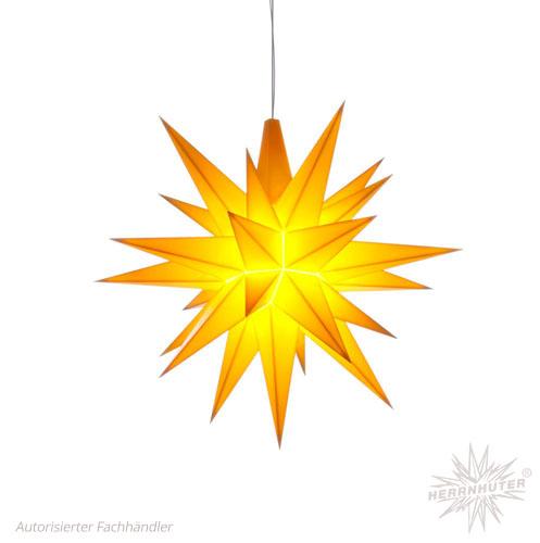 Herrnhuter Stern, Kunststoff 13cm, gelb