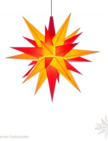 Herrnhuter Stern Kunststoff 13cm, gelb/rot