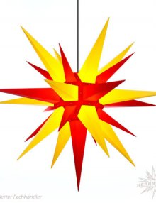 Herrnhuter Stern, Kunststoff 130cm, gelb/rot