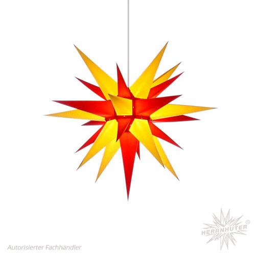Herrnhuter Stern, Papier 60cm, gelb/rot