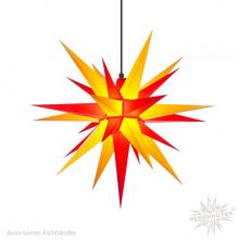 Herrnhuter Stern, Kunststoff 68cm, gelb/rot
