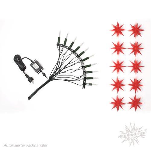 Herrnhuter Sternenkette, rot