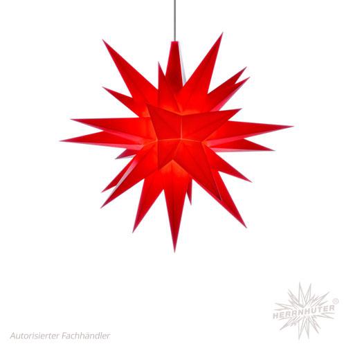 Herrnhuter Stern, Kunststoff 13cm, rot