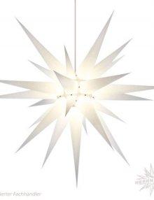 Herrnhuter Stern, Papier 80cm, weiß