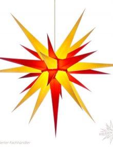 Herrnhuter Stern, Papier 80cm, gelb/rot