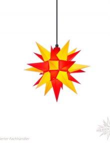 Herrnhuter Stern, Kunststoff 40cm, gelb/rot