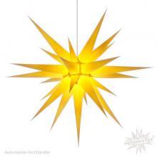 Herrnhuter Stern, Papier 80cm, gelb