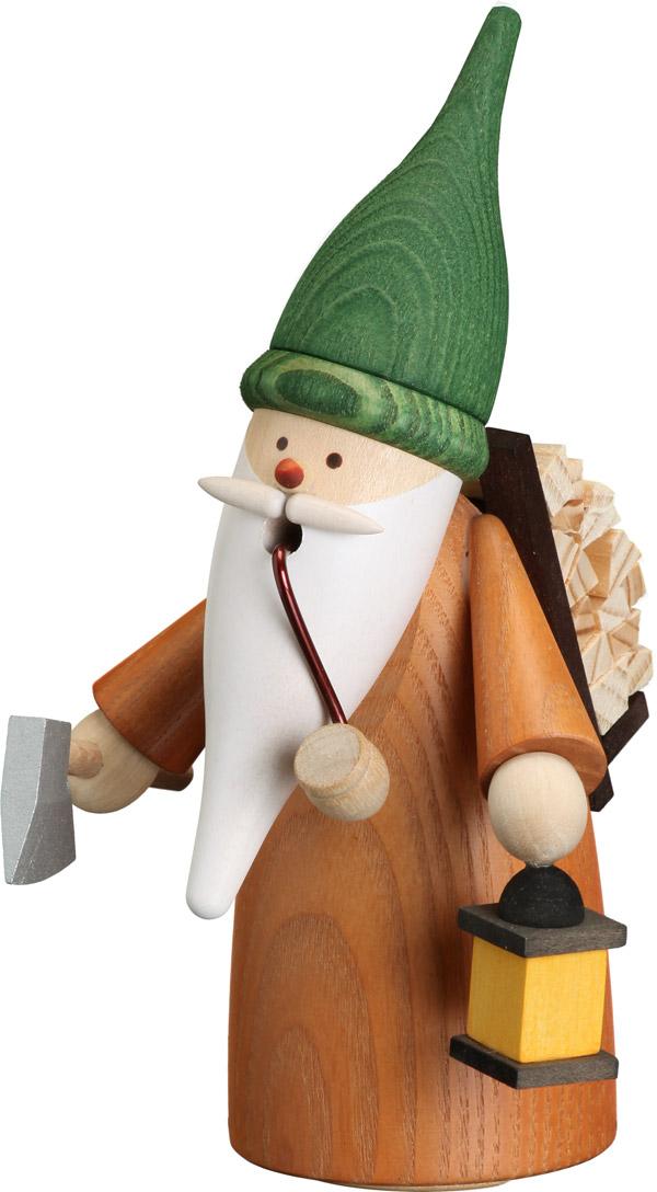 Räucherfigur Wichtel Holzsammler