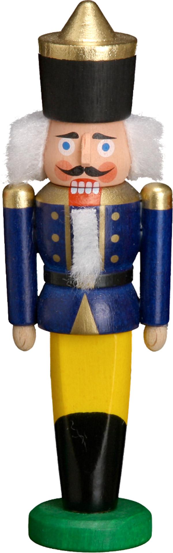 Nussknacker Behang König blau
